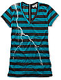 CDC Apparel Lightning Stripe Zipper T-Shirt