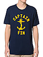 Captain Fin Bold Anchor Navy T-Shirt