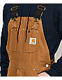 Carhartt Duck Brown Bib Overalls