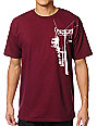 Casual Industrees Chairlift Maroon T-Shirt