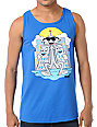 Casual Industrees Faceman Blue Tank Top