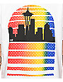Casual Industrees Seattle Skyline Vertical Fade White T-Shirt