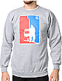 Casual Industrees Solo Dolo Grey Crew Neck Sweatshirt