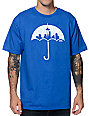 Casual Industrees Umbrella Rain Camo Royal Blue T-Shirt