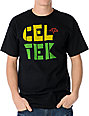 Celtek Outline Black & Rasta T-Shirt
