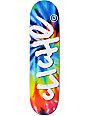 """Cliche Handwritten Tie Dye 8.0""""  Skateboard Deck"""