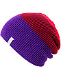 Coal Frena Purple & Red Knit Beanie