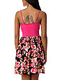 Crafty Pink Floral Zipper Dress