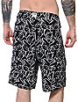 "Crooks & Castles No Hands 22""  Black Board Shorts"
