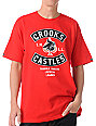 Crooks and Castles Air Gun Spade Red T-Shirt