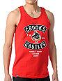 Crooks and Castles Air Gun Spade Red Tank Top