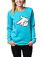 Crooks and Castles Airgun Turquoise Crew Neck Sweatshirt