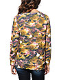 Crooks and Castles Allover Floral Print Crew Neck Sweatshirt