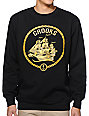 Crooks and Castles Bounty Voyage Black Crew Neck Sweatshirt