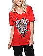 Crooks and Castles Euphoria Medusa V-Neck T-Shirt