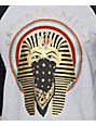 Crooks and Castles Pharaoh 2.0 Baseball Grey & Black Baseball T-Shirt