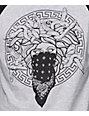 Crooks and Castles Primo Black & Grey Baseball T-Shirt