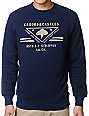 Crooks and Castles Strong Arm Regime Navy Crew Neck Sweatshirt