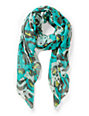 D&Y Abstract Animal Print Blue Scarf