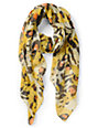 D&Y Abstract Animal Print Yellow Scarf