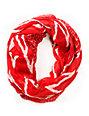 D&Y Chevron Stripe Red Infinity Scarf