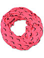 D&Y Mustache Print Pink Infinity Scarf