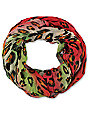 D&Y Rainbow Coral Leopard Print Infinity Scarf