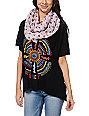 D&Y Skull Print Pink Infinity Scarf