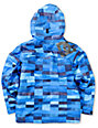 DC Boys Amo K Blue Plaid 5K Snowboarding Jacket 2013