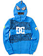 DC Boys Block Blue Full Zip Face Mask Hoodie