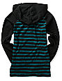 DC Boys Copius Pirate Black & Teal Hooded Shirt