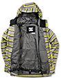 DC Boys Servo K Lime Stripe 10K Snowboarding Jacket 2013