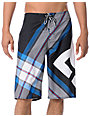 DC Campaign Black Plaid Board Shorts