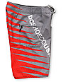 DC Carnivore 19 Grey & Red Boys Board Shorts
