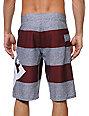 DC Lanai Stripe Dark Red Board Shorts