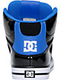 DC Spartan Hi Black Patent & Blue Leather Skate Shoes