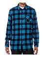 DC Zeek Black & Blue Flannel Shirt