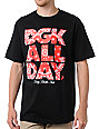 DGK All Day Paisley Black & Red T-Shirt