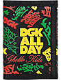 DGK Classic Black & Rasta Tri-Fold Wallet