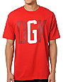 DGK G Crew Red T-Shirt