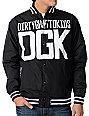 DGK Inning Lightweight Black Varsity Jacket
