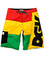 DGK Internationally Known Rasta 23 Board Shorts