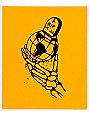 DROPOUT CLUB INTL. RIP World Skull Orange Sticker