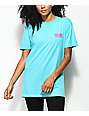 DROPOUT CLUB INTL. x Earth To Monica 3D Heart Eyes Teal T-Shirt