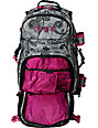 Dakine Lace Floral Heli Pro Black & Pink Snow Backpack