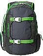 Dakine Mission Charcoal & Green Backpack