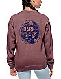 Dark Seas Yin Yang Wave Dusty Rum Crew Neck Sweatshirt
