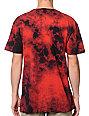 Deathwish Logo Red Marble Tie Dye T-Shirt