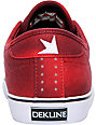 Dekline Santa Fe Red & Black Bleach Canvas Skate Shoes
