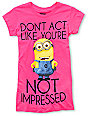 Despicable Me Dont Act Pink T-Shirt
